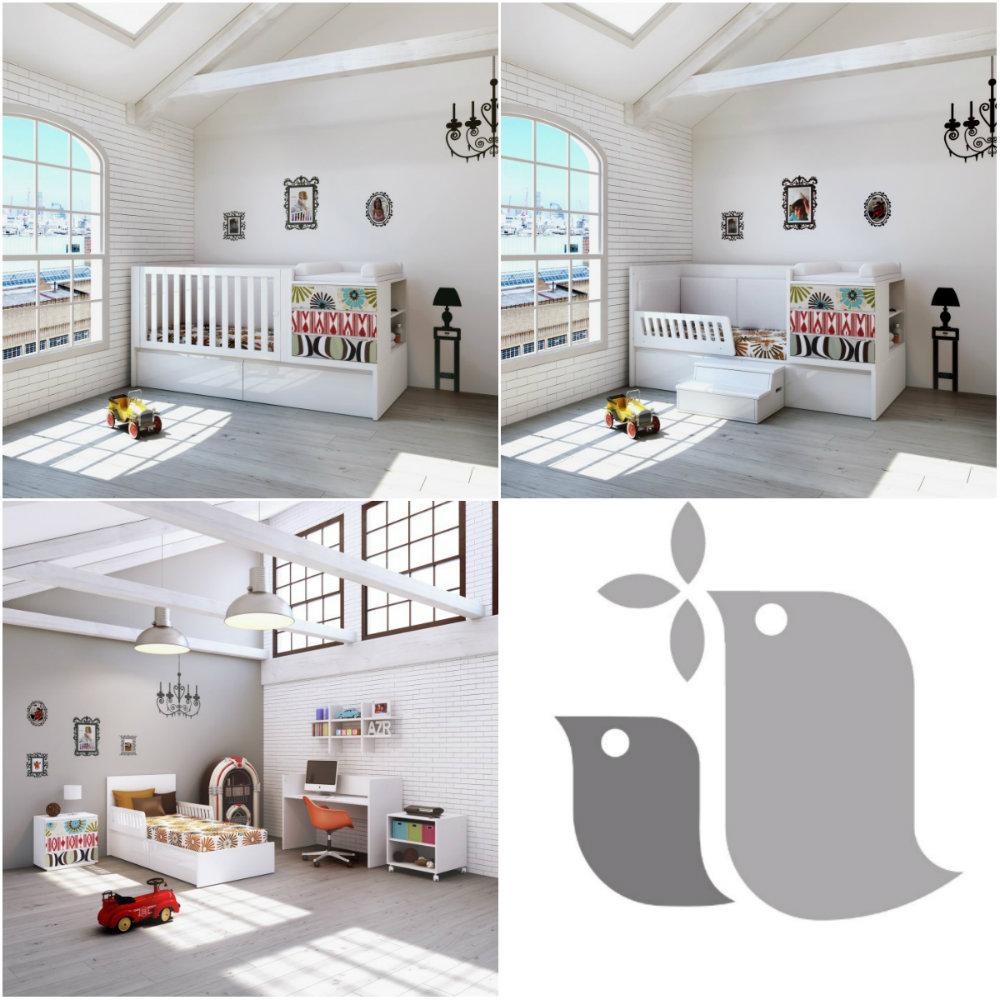 chambre de b b volutive pi ti li. Black Bedroom Furniture Sets. Home Design Ideas