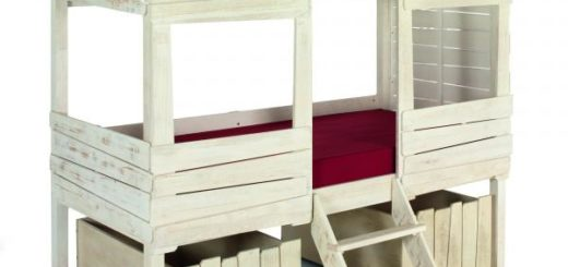 Alinea lit cabane rideau de lit cabane riaux s rideaux for Lit woody wood