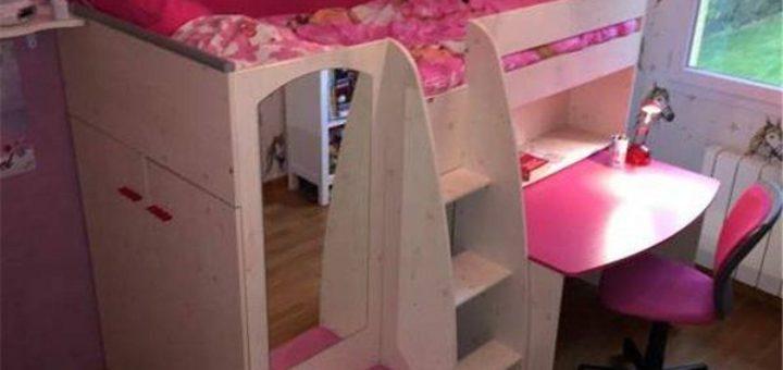 lit enfant lilou pi ti li. Black Bedroom Furniture Sets. Home Design Ideas