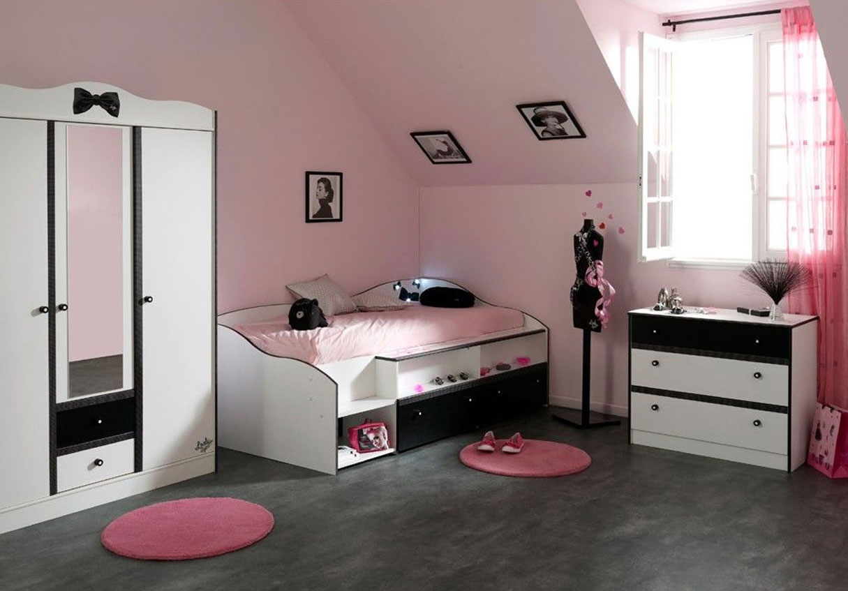 meuble pour chambre ado fille pi ti li. Black Bedroom Furniture Sets. Home Design Ideas
