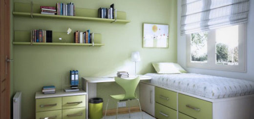 Chambre avec bureau ado - pi ti li