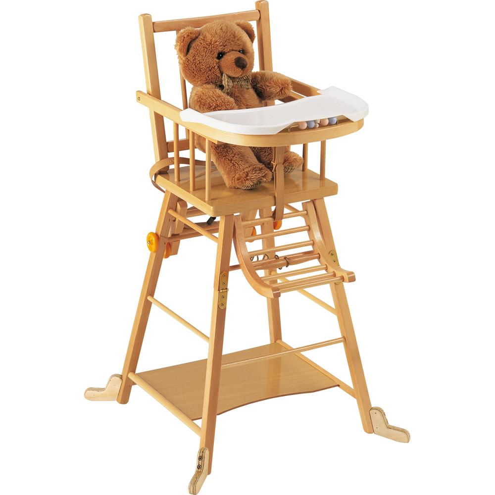 chaise haute pour b b en bois pi ti li. Black Bedroom Furniture Sets. Home Design Ideas