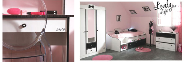 meuble chambre fille ado pi ti li. Black Bedroom Furniture Sets. Home Design Ideas