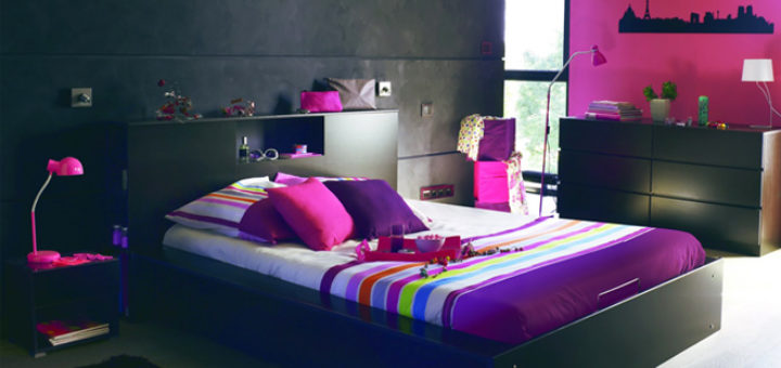 chambre de jeune fille pi ti li. Black Bedroom Furniture Sets. Home Design Ideas