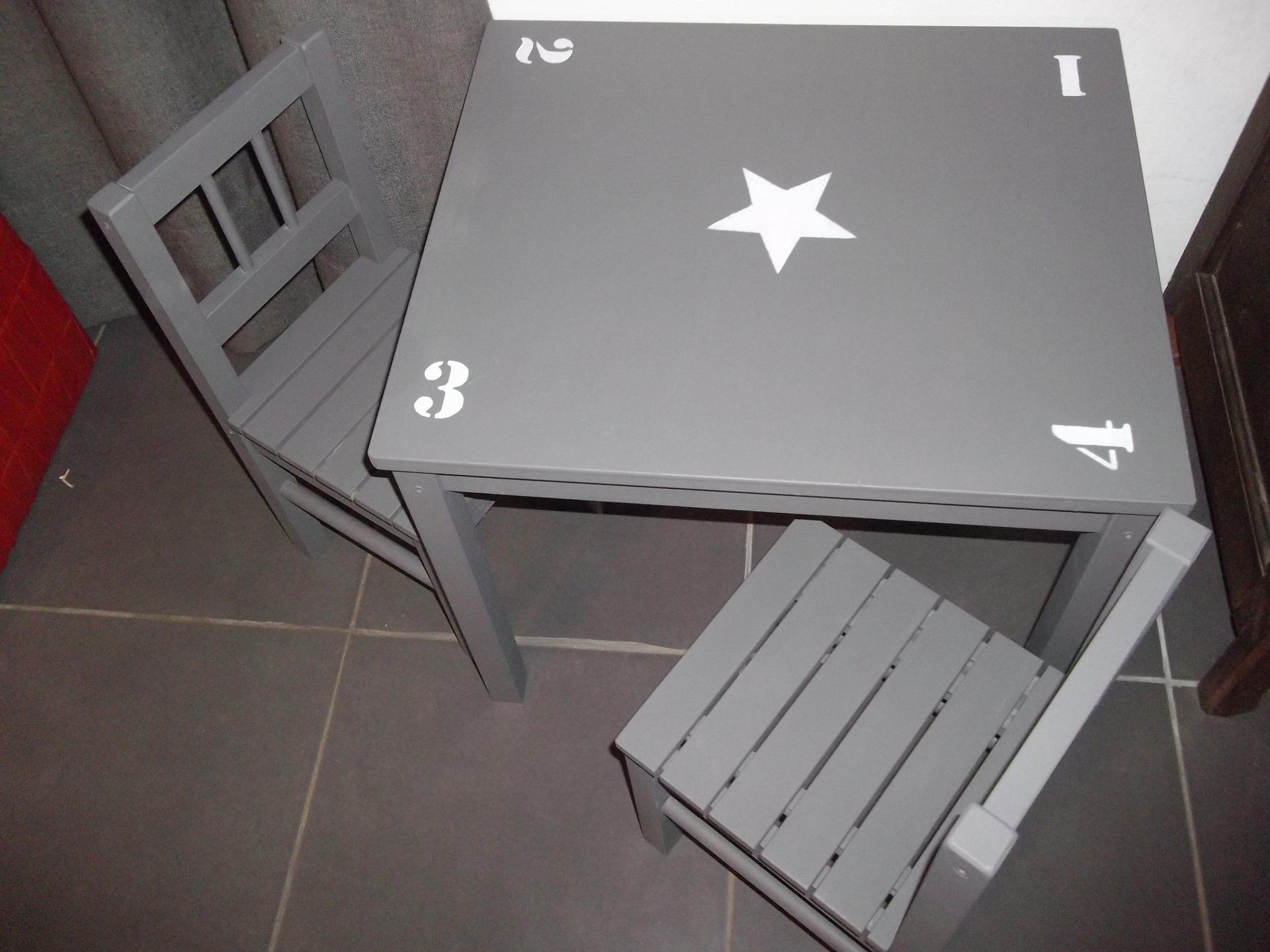 table et chaise pour enfant pi ti li. Black Bedroom Furniture Sets. Home Design Ideas