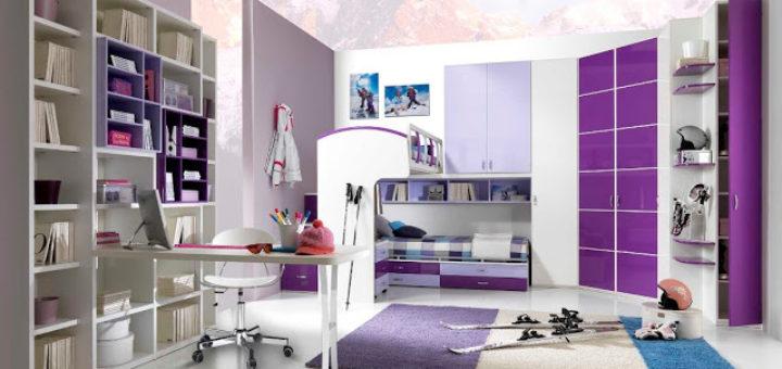 chambre jeune fille moderne pi ti li. Black Bedroom Furniture Sets. Home Design Ideas