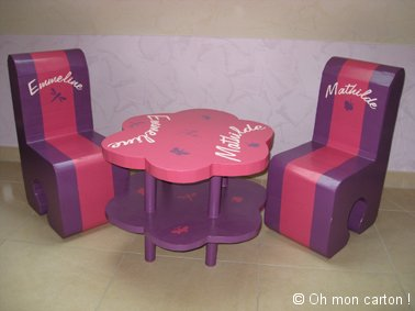 petite table et chaise pour enfant pi ti li. Black Bedroom Furniture Sets. Home Design Ideas