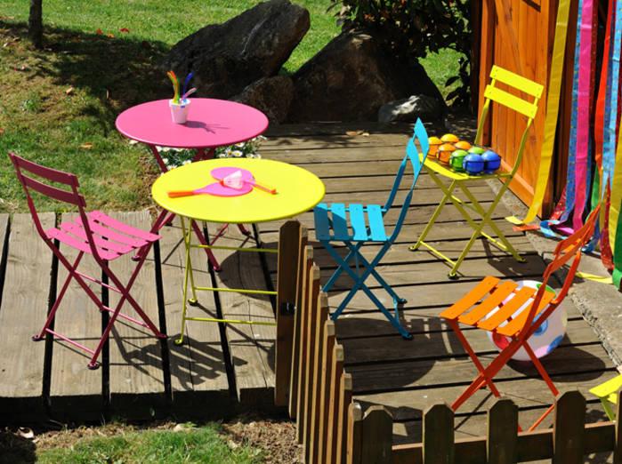 Table chaise enfant exterieur pi ti li - Table exterieur enfant ...