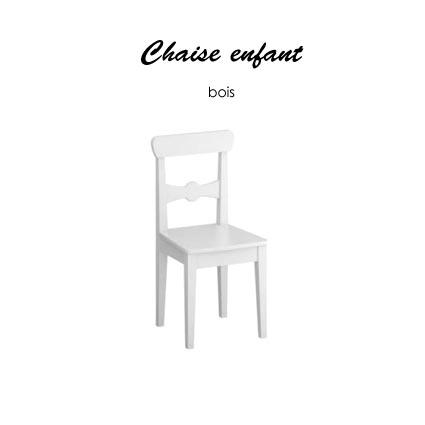 chaise blanche enfant pi ti li. Black Bedroom Furniture Sets. Home Design Ideas