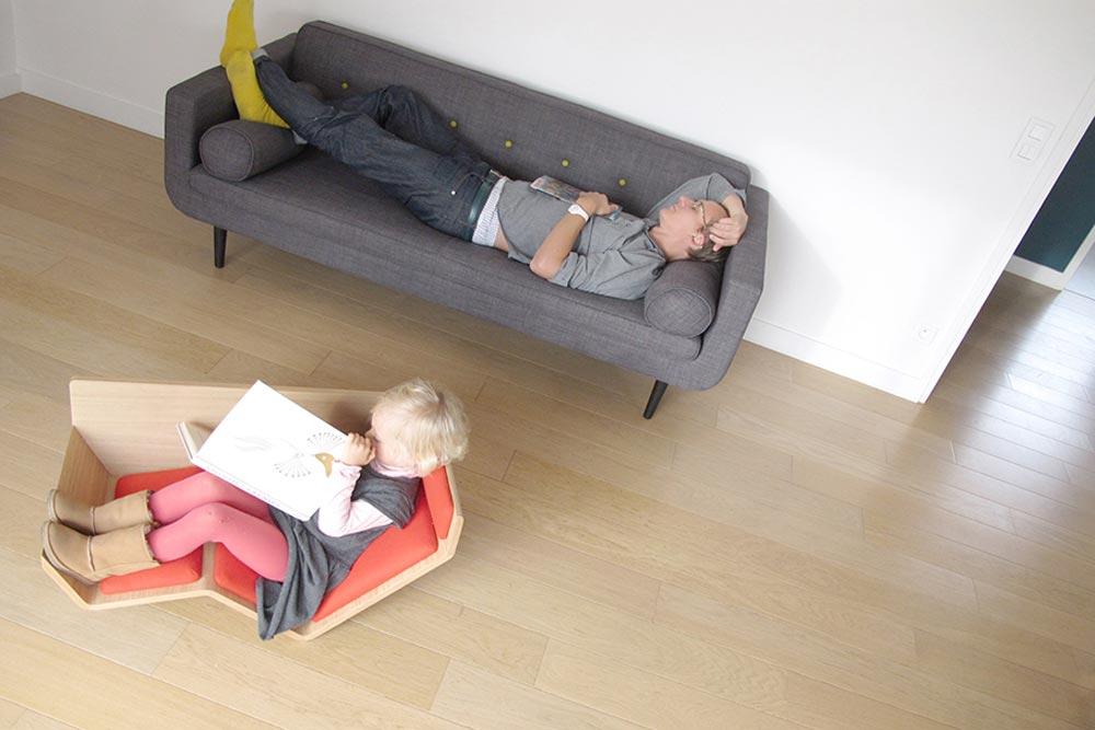 chaise pour table basse pi ti li. Black Bedroom Furniture Sets. Home Design Ideas