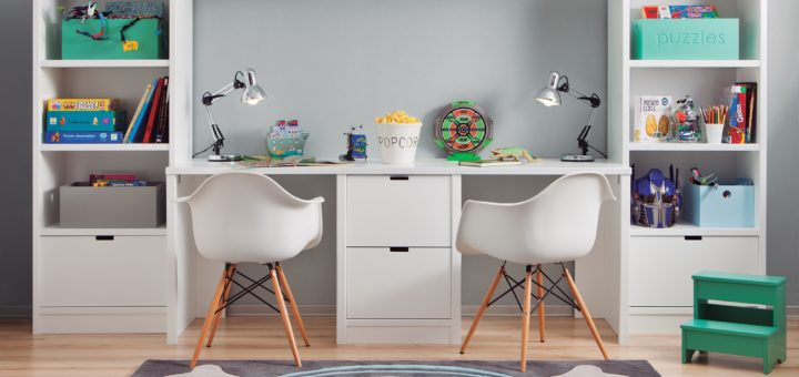 bureau enfant avec rangement pi ti li. Black Bedroom Furniture Sets. Home Design Ideas