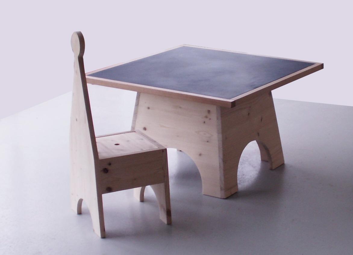 Conception et Plan petite table enfant : Table et chaise pour petite fille - pi ti li