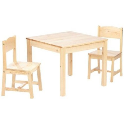 table chaise enfant bois - pi ti li