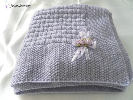 modele de couverture tricot pour bebe