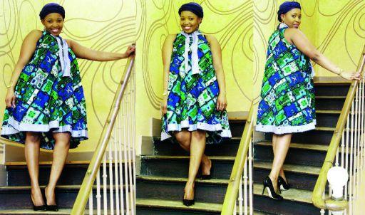 Extrem Robe de grossesse en pagne africain - pi ti li PO63