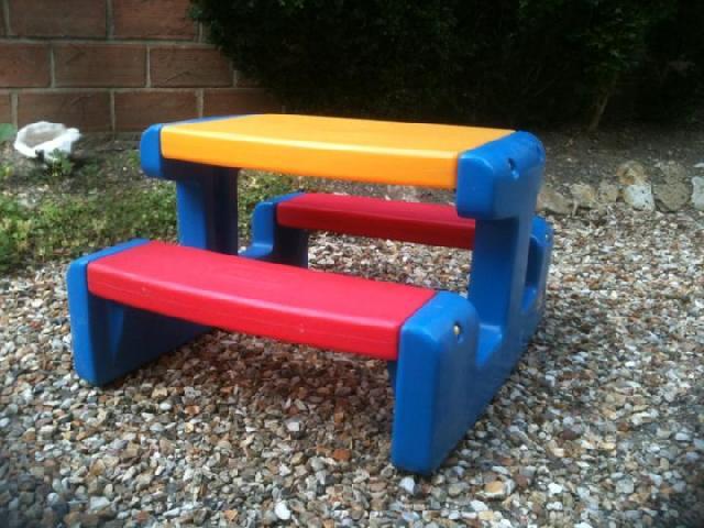 Table enfant en plastique pi ti li - Table de jardin plastique dur ...