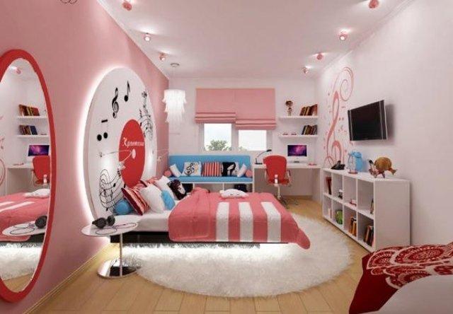 chambre d ado pour fille pi ti li. Black Bedroom Furniture Sets. Home Design Ideas