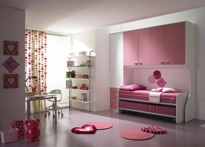 chambre pour les filles pi ti li. Black Bedroom Furniture Sets. Home Design Ideas
