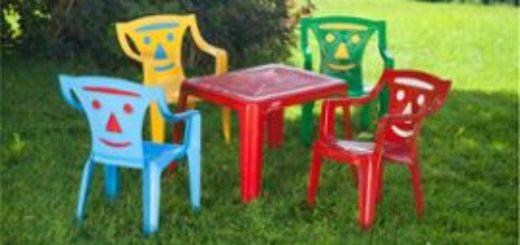 Table et chaise fille pi ti li - Ensemble jardin enfant ...