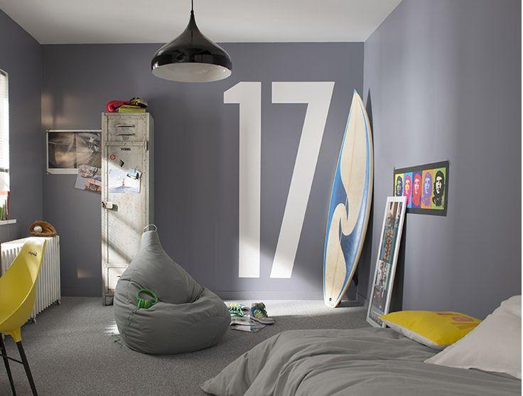 peinture chambre ado gar on pi ti li. Black Bedroom Furniture Sets. Home Design Ideas