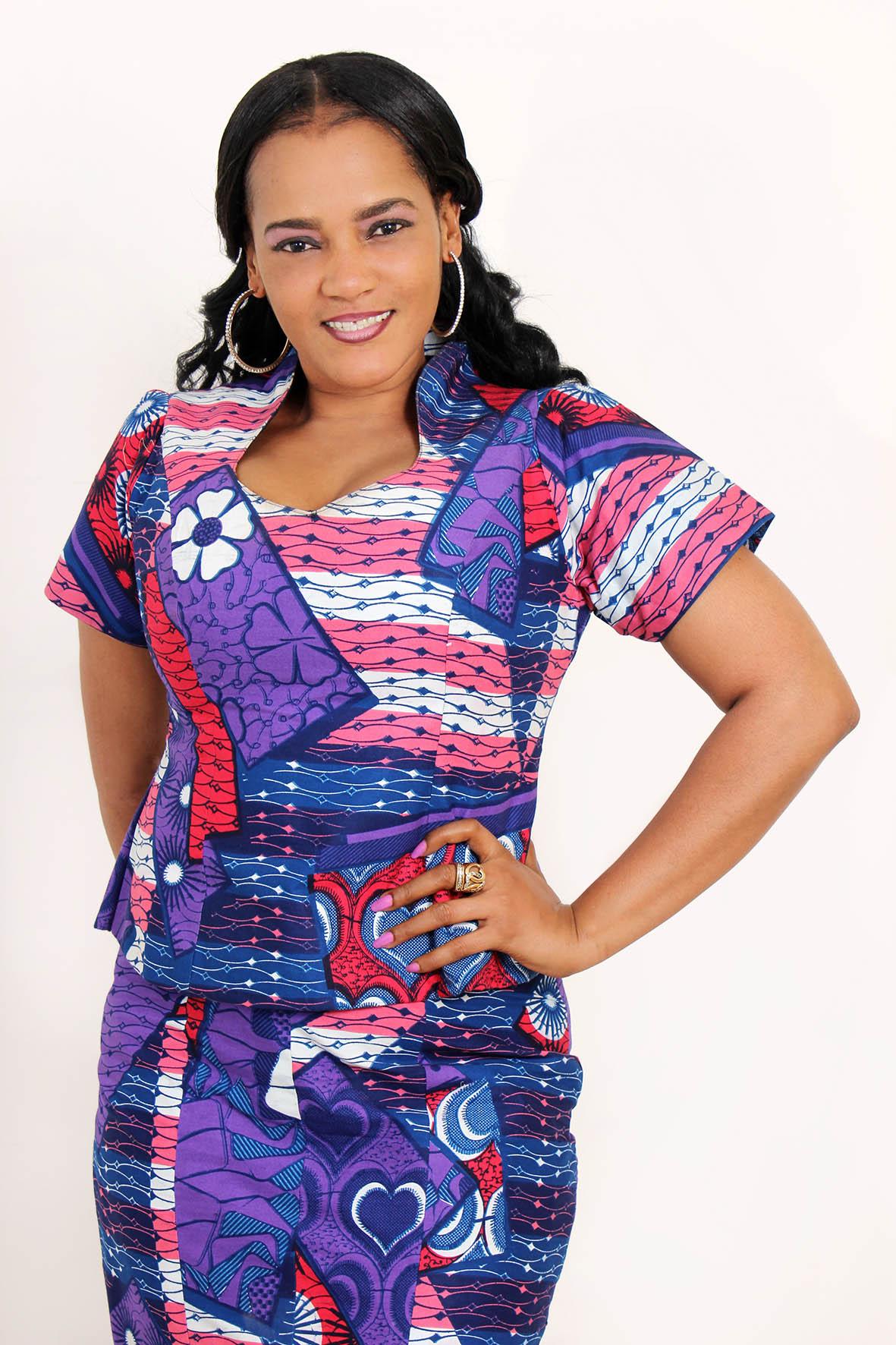 Modèle ensemble pagne africain - pi ti li