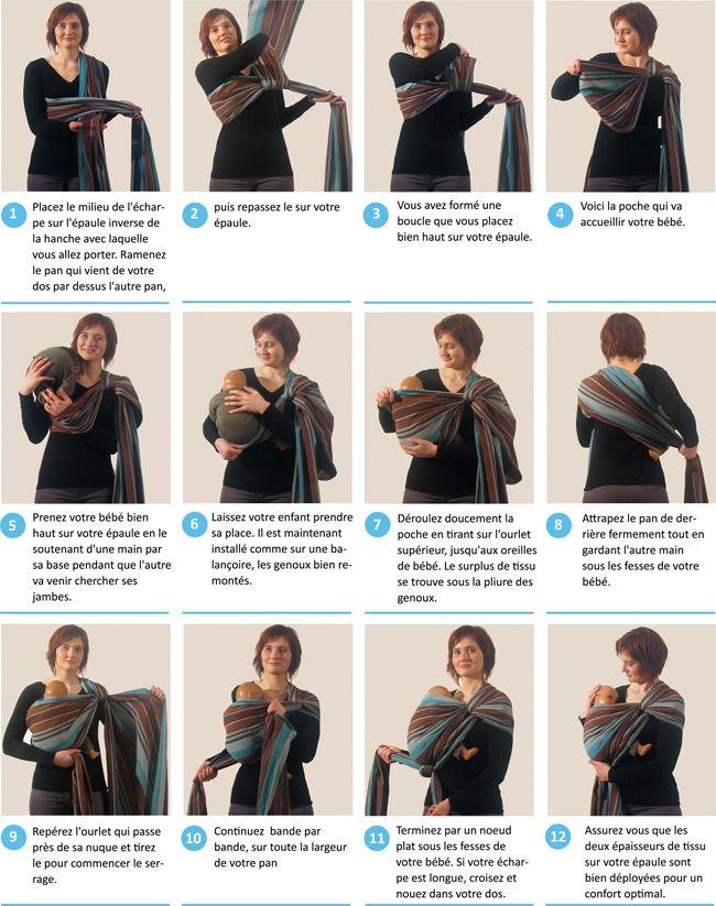 Voici la sélection d écharpe de portage bébé pour vous     . Technique  echarpe de portage 5c10b69dd0a