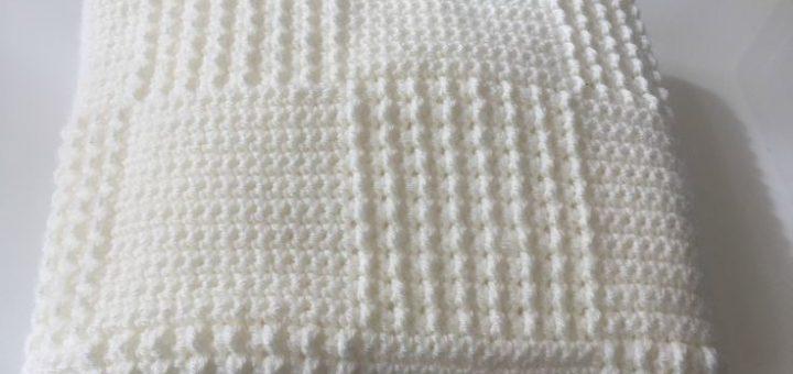 couverture pour b b crochet pi ti li. Black Bedroom Furniture Sets. Home Design Ideas