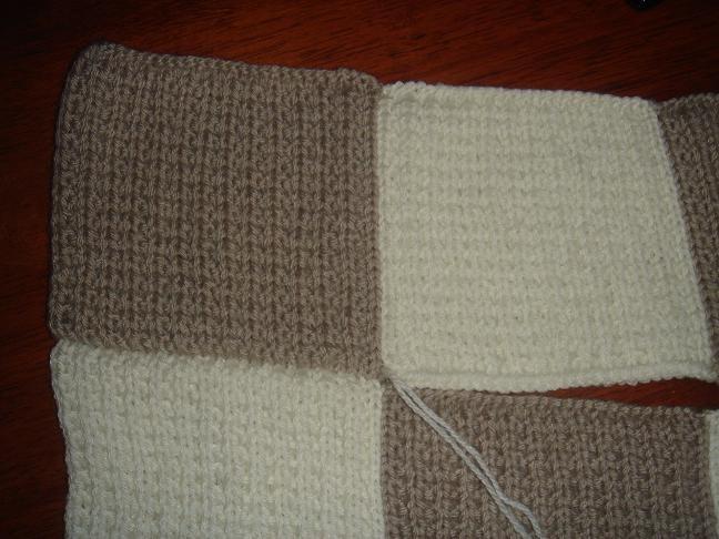 ecc493284d7 Couverture tricot bébé facile - pi ti li
