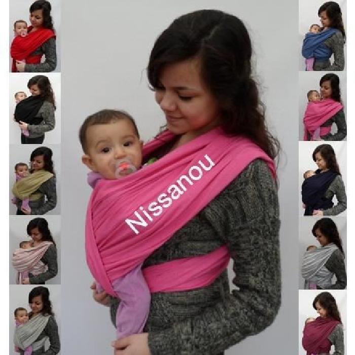 Voici la sélection d écharpe de portage bébé pour vous     . Echarpe de portage  sans noeud ... 1aa027a5a79